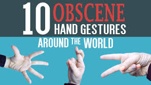 10 Obscene Hand Gestures Around the World - YouTube
