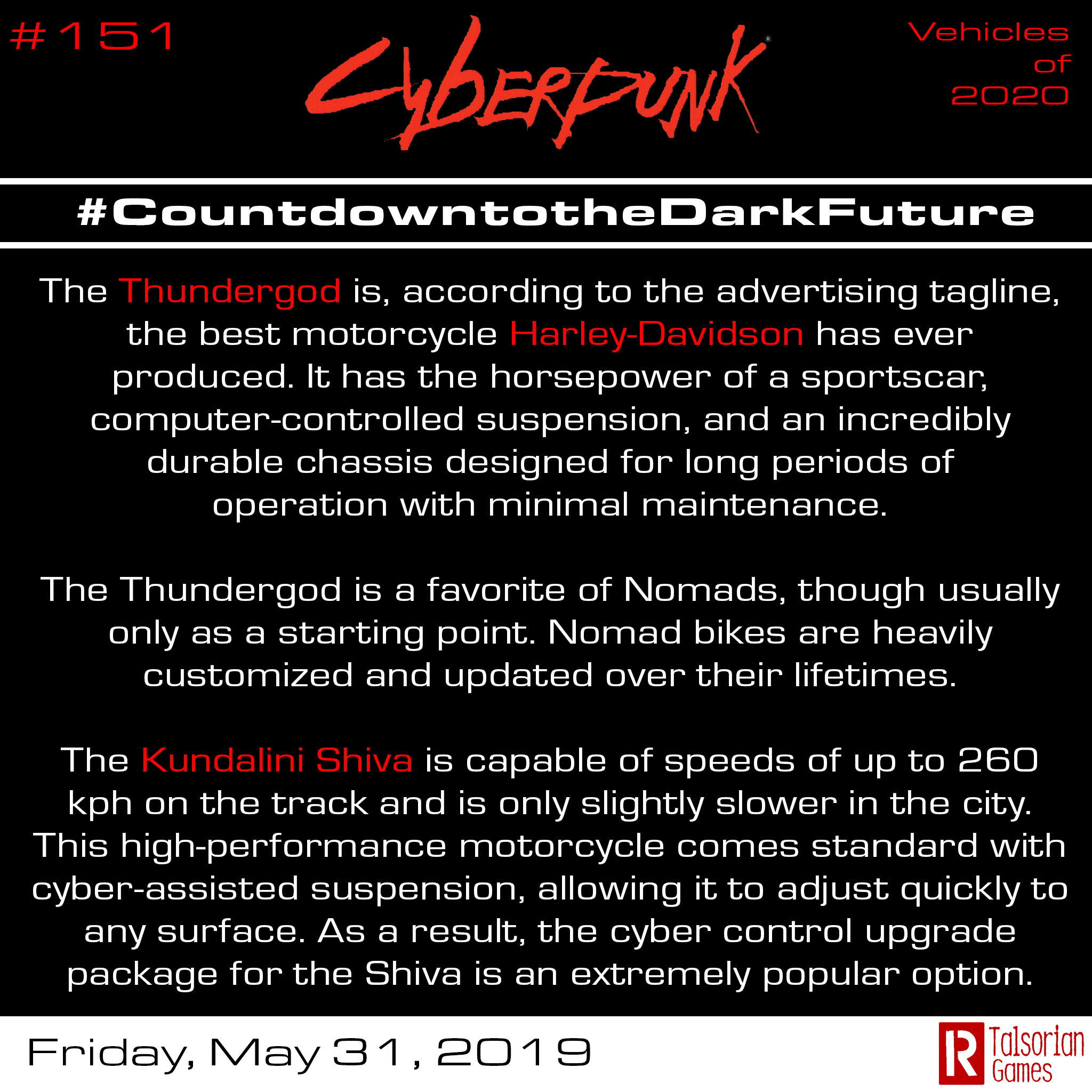 CountdowntotheDarkFuture - June: Vehicles, Nomads, Soulkiller(!) and