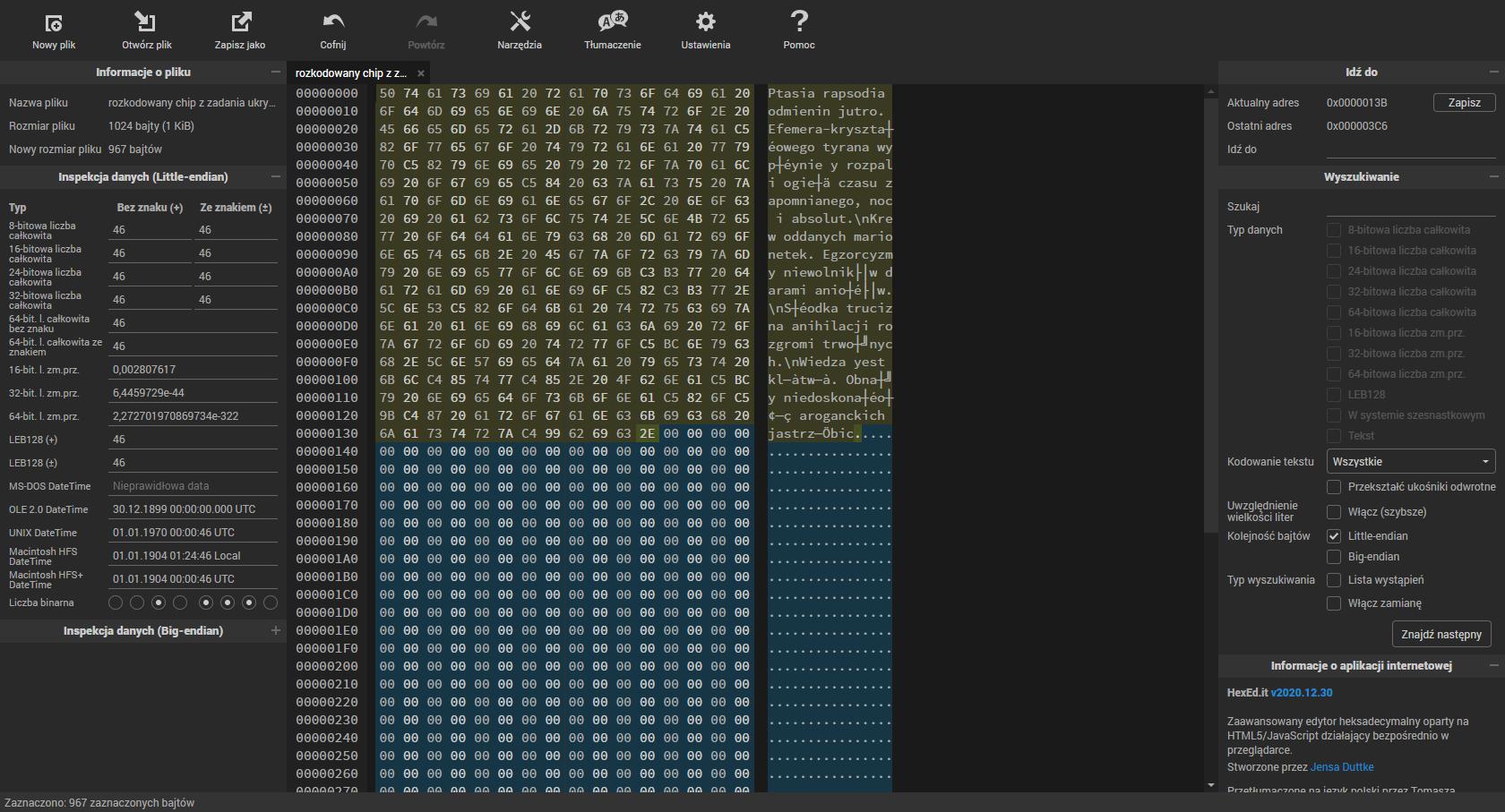 Kod z drzazgi z zadania Ukryta prawda - widok kodu w hexed.it.png