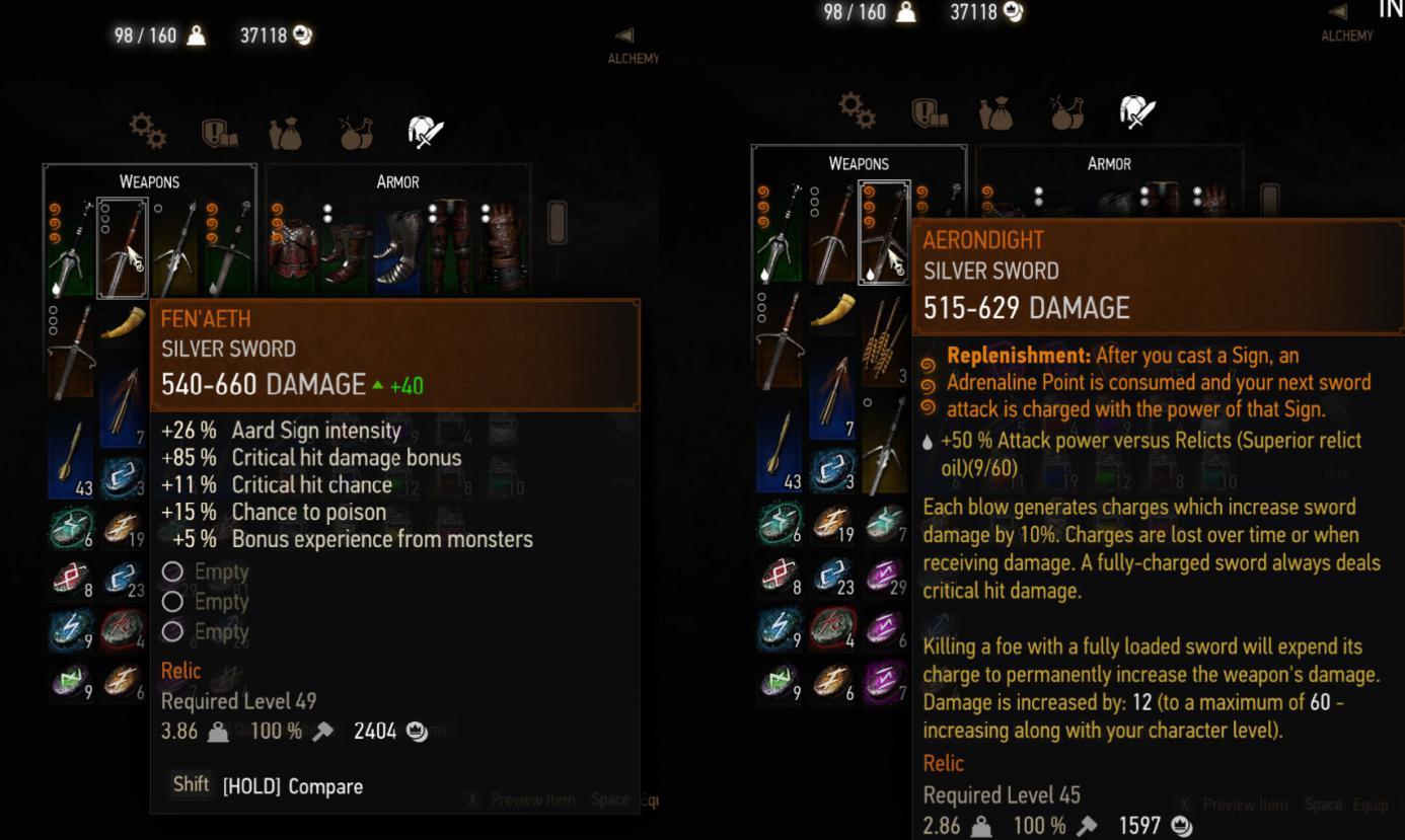 Found a better silver sword than Aerondight | Forums - CD PROJEKT RED